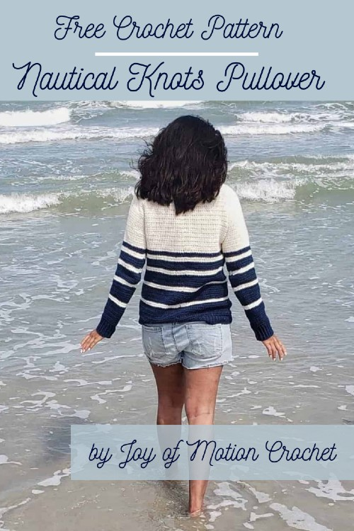 Free Crochet Pattern Nautical Knots Pullover