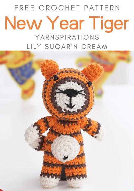 Free Crochet Pattern New Year Tiger