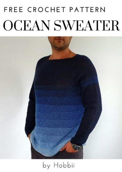 Free Crochet Pattern Ocean Sweater