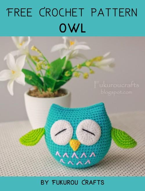 Free Crochet Pattern Owl