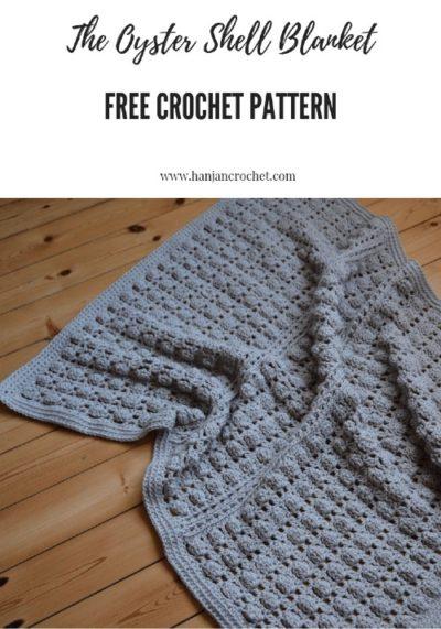 Free Crochet Pattern Oyster Shell Blanket