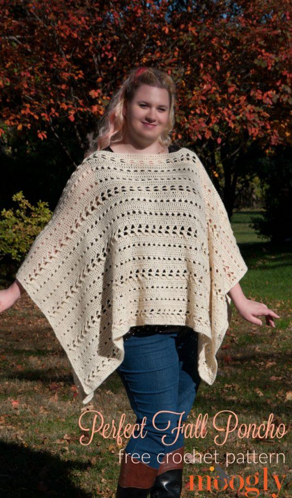 Free Crochet Pattern Perfect Fall Poncho