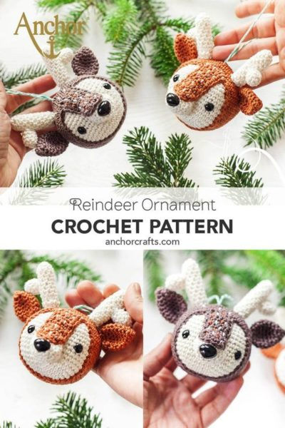 Free Crochet Pattern Reindeer Ornament