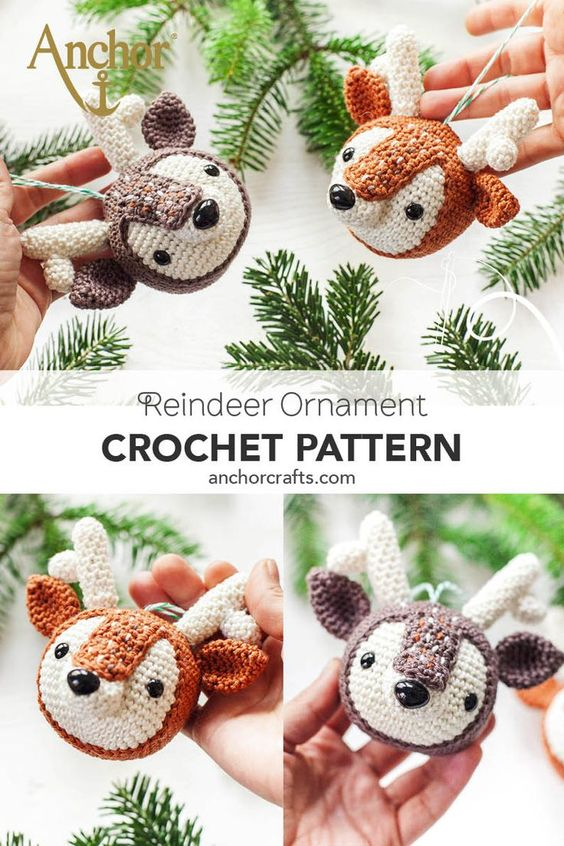 Amigurumi Tobi Christmas Deer in Hat Free Crochet Pattern ... | 846x564