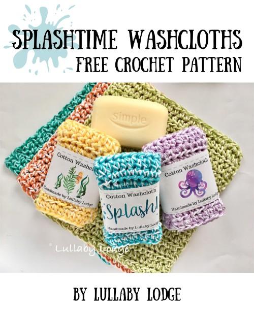 Free Crochet Pattern Splashtime Washcloths