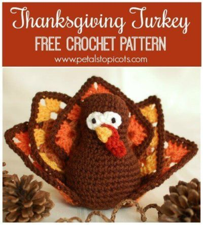 Free Crochet Pattern Thanksgiving Turkey