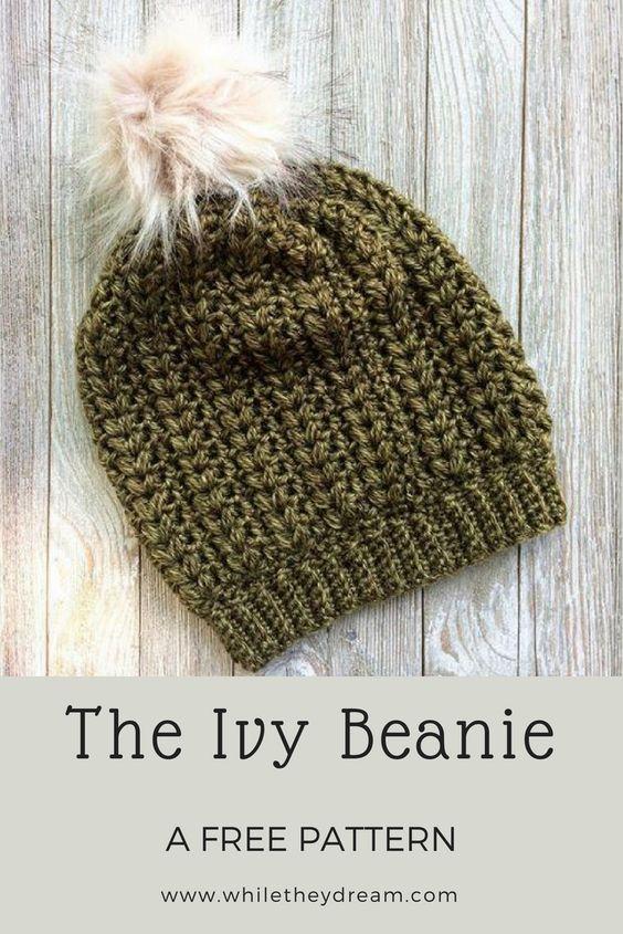 Free Crochet Pattern The Ivy Beanie