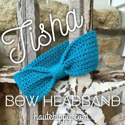 Free Crochet Pattern Tisha Bow Headband