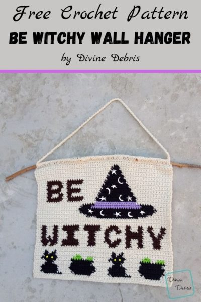 Free Crochet Pattern Witchy Wall Hanging