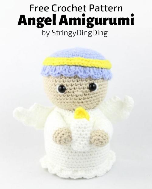 Crochet Bead Angel Ornament Free Crochet Pattern | 620x500