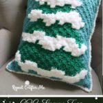 Free Crochet Pattern C2C Snowy Tree