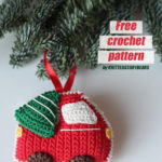 Free Crochet Pattern Christmas Car & Tree