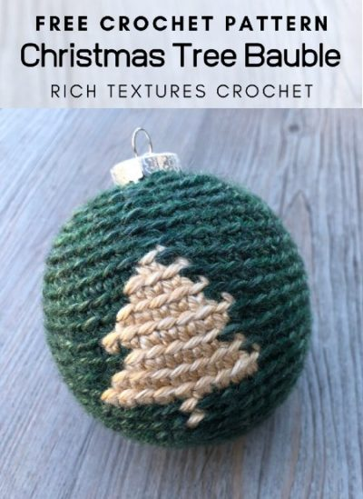 Free Crochet Pattern Christmas Tree Bauble