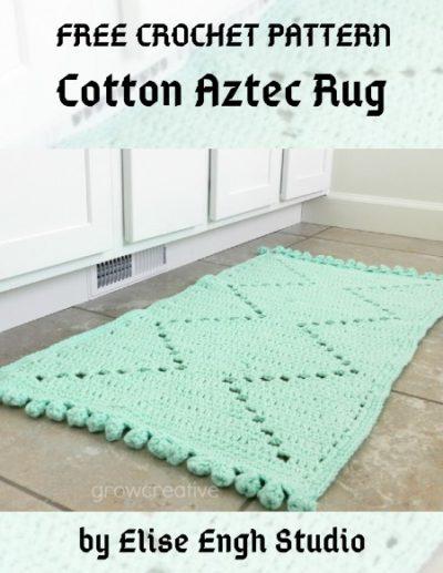 Free Crochet Pattern Cotton Aztec Rug