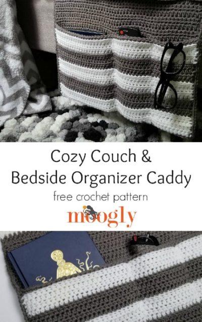 Free Crochet Pattern Couch & Bedside Organizer