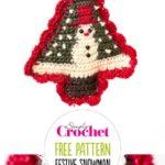 Free Crochet Pattern Festive Snowman Decoration