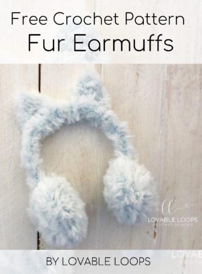 Free Crochet Pattern Fur Earmuffs