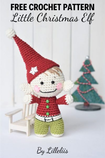 Free Crochet Pattern Little Christmas Elf