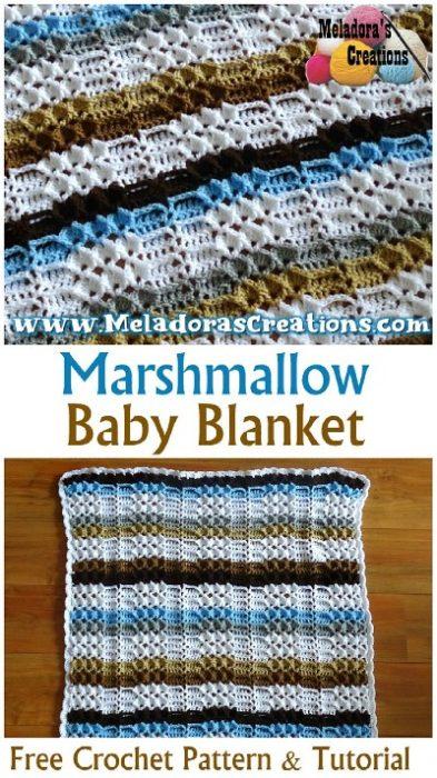 Free Crochet Pattern Marshmallow Baby Blanket