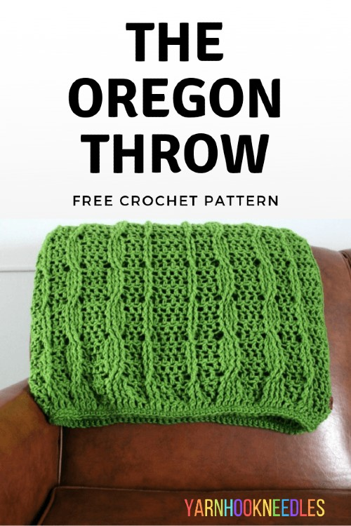 Free Crochet Pattern Oregon Throw