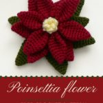 Free Crochet Pattern Poinsettia Flower