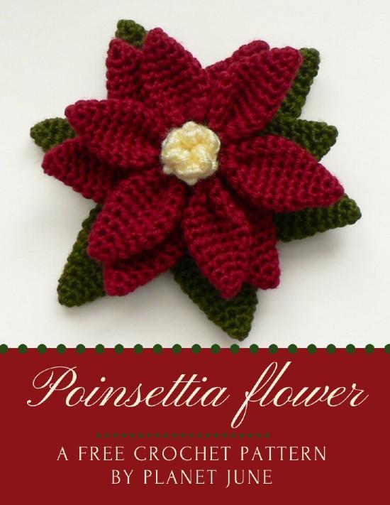 Free Crochet Pattern Poinsettia Flower