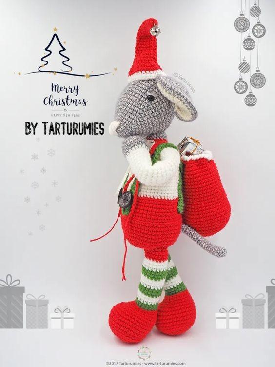 Free Crochet Pattern Roger Christmas Mouse
