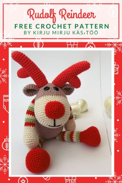 Free Crochet Pattern Rudolf Reindeer