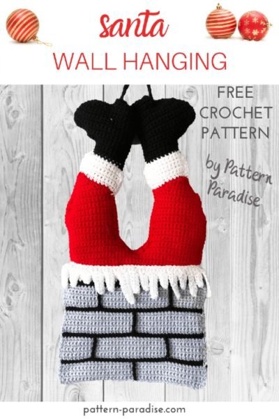 Free Crochet Pattern Santa Wall Hanging