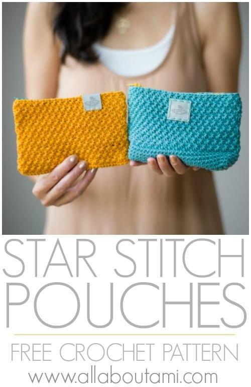 Free Crochet Pattern Star Stitch Pouches