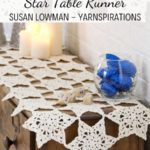 Free Crochet Pattern Star Table Runner