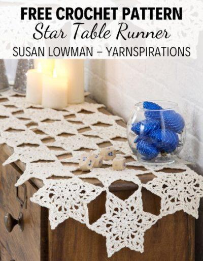 Free Crochet Pattern Star Table Runner