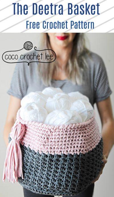 Free Crochet Pattern The Deetra Basket