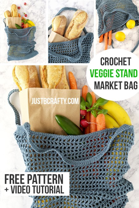 Free Crochet Pattern Veggie Stand Market Bag