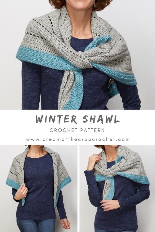 Free Crochet Pattern Winter Shawl