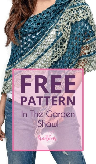Free Crochet Pattern in the Garden Shawl