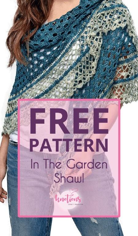 Free Crochet Pattern in the Garden Shawl