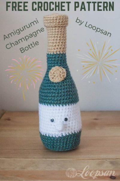 Free Crochet Pattern Amigurumi Champagne Bottle
