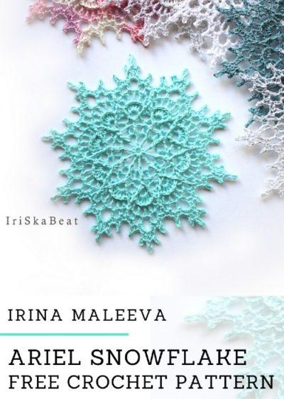 Free Crochet Pattern Ariel Snowflake