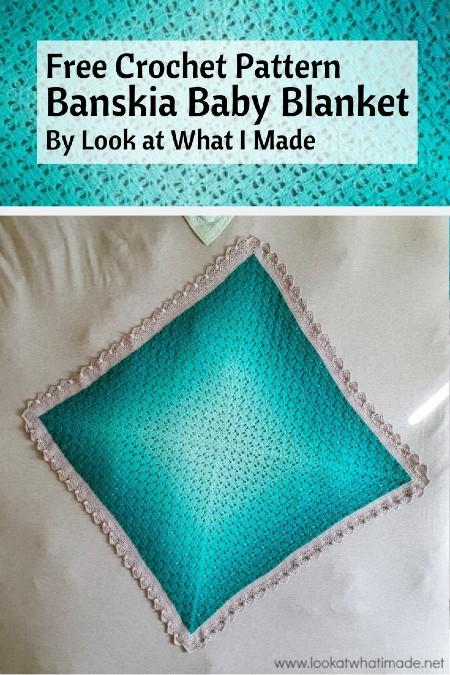 Free Crochet Pattern Banskia Baby Blanket