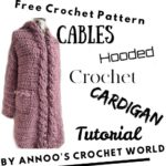 Free Crochet Pattern Cable Hooded Cardigan