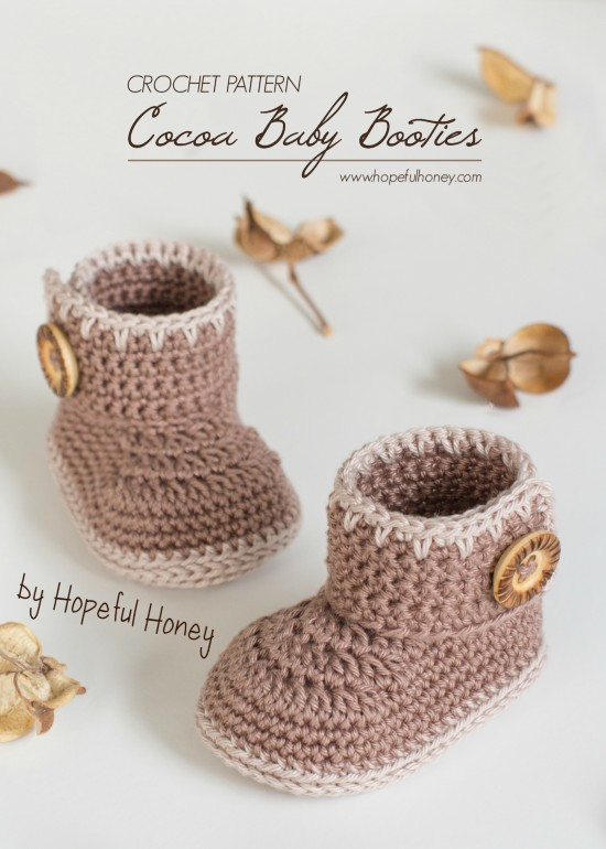 Free Crochet Pattern Cacoa Baby Booties