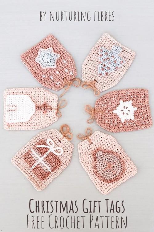 Free Crochet Pattern Christmas Gift Tags