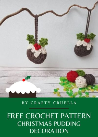 Free Crochet Pattern Christmas Pudding Decoration