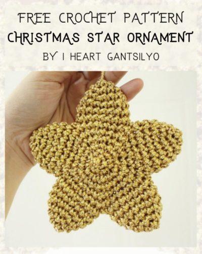 Free Crochet Pattern Christmas Star Ornament