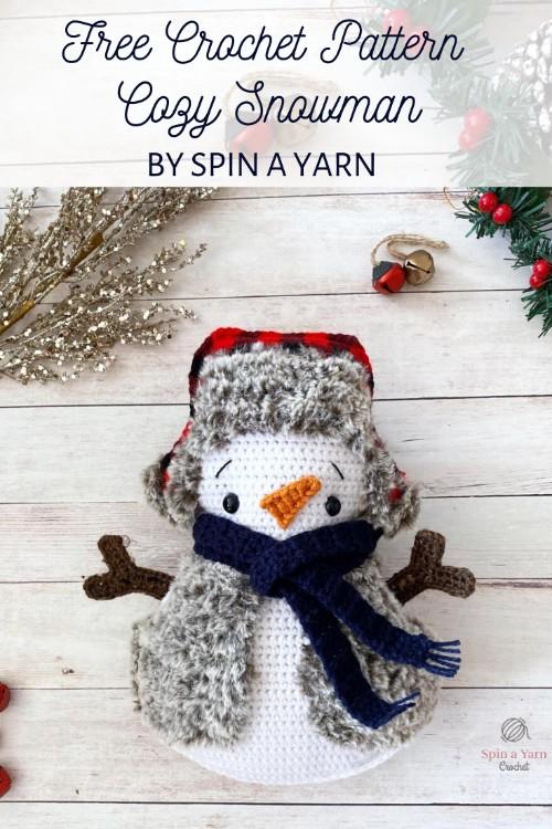 Free Crochet Pattern Cozy Snowman