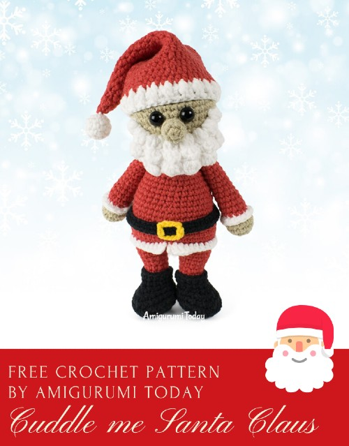19 Free Amigurumi Christmas Santa Crochet Patterns | Christmas ... | 639x500