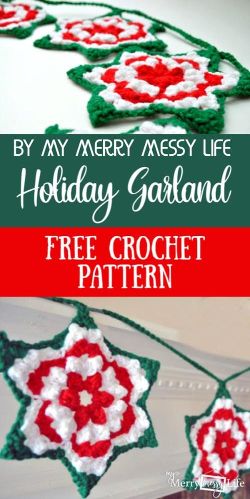 Free Crochet Pattern Holiday Garland