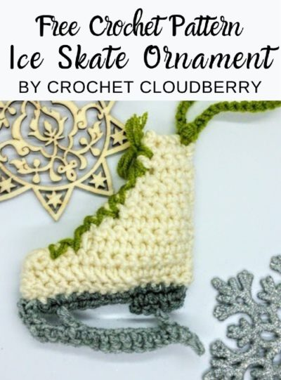 Free Crochet Pattern Ice Skate Ornament