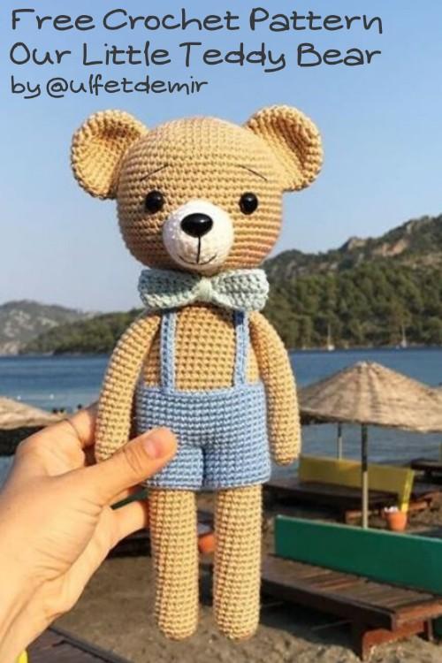Free Crochet Pattern Little Teddy Bear
